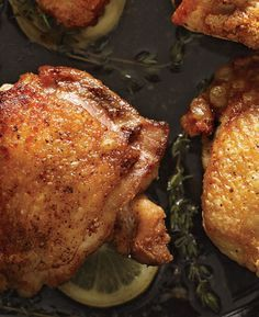 Sophisticated enough for a Sunday supper yet quick enough for Wednesday's dinner, this master recipe is all in the technique. Cook the thighs skin side down in a cast-iron skillet to render out the fat and make the skin as crisp and, dare we say, delicious as bacon.