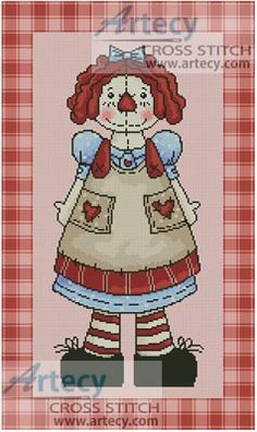 Country Annie Cross Stitch Pattern http://www.artecyshop.com/index.php?main_page=product_info&cPath=30&products_id=140