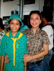 Junior Girl Scout of the Girl Scouts of the Phillippines #Thinking Day