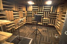 Earth's quietest place: The 'anechoic chamber' at Orfield Laboratories, which is 99.99 per cent sound absorbent and capable of giving you hallucinations