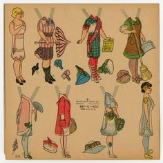The Paper Collector: Votes for Women c. 1920.  Suffragette paper dolls.