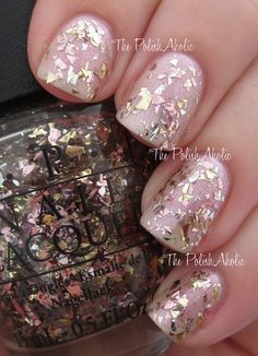 Opis Gaining Mole Mentum Beautiful Chunky Gold And Pink Glitter On A Clear Base