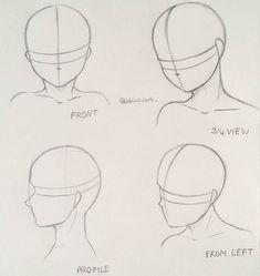 Tipos de poses de rostos para desenhar mangá - #mens #watches