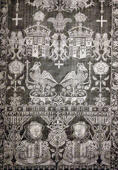 Queeen Elizabeth I table linen, image from ' The Inventory of Henry VIII: Clothing and Textiles', by Maria Hayward (Editor), Philip Ward (Editor)