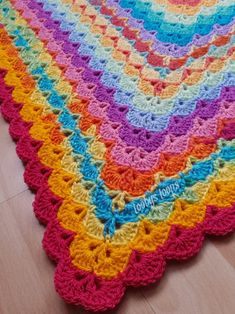 My Picot 4025 - Free Crochet Pattern Crochet Afghans, Crochet Shell Blanket, Afghan Crochet Patterns, Crochet Stitches, Free Crochet, Crochet Baby, Knit Crochet, Chrochet, Crochet Crafts
