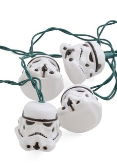 The Perfect Stormtrooper String Lights. Whether trimmed along the mantle or brightening the pine in the front yard, these stormtrooper string lights let you get your holiday geek on! #multi #modcloth