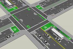 protection intersection bike - Buscar con Google