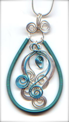 Pendant- 'Hang Loose' from WireWorkers Guild.blogspot.ca