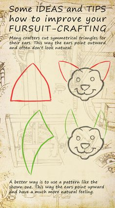 How to improve your fursuit crafting A good ear tip so your mask doesn't have…
