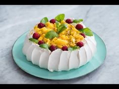 Beza Pavlova, czyli beza idealna :) | Sugarlady - YouTube Pavlova, Sweet Tooth, Cheesecake, Gluten, Pudding, Sweets, Make It Yourself, Baking, Recipes