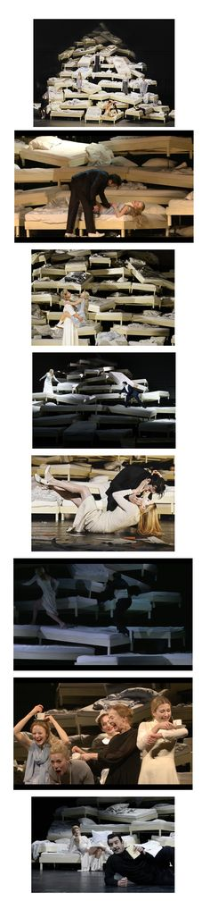 Residenz Theater / 2015 GEFÄHRLICHE LIEBSCHAFTEN  Regie: KATRINE WIEDEMANN Bühne und Kostüm: MAJA RAVN Licht: MARKUS SCHADEL Dramaturgie: LAURA OLIVI