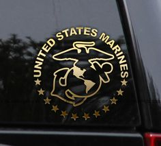 PROUD MARINE DAD Vinyl Decal Sticker Car QUALITY I Love my Son Daughter VETERAN
