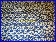 Textile Shop: SPECIAL OFFERBlue Cotton Reversible Quilt/ Ikat K...