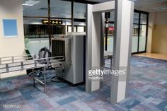 Stock Photo : 'Airport Security Check Point, Luggage And Body Scanner'