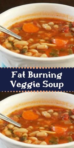 It's Fat Burning Soup Time! Yes, I am always creating new fat burning recipes. My Fat Burning Vegetable Bean Soup is my new invention! I love soup and I love the fact that you can burn extra Vegetable Soup Healthy, Veggie Soup, Healthy Vegetables, Veggies, Crock Pot Cabbage, Cabbage Soup Diet, Pork Recipes, Slow Cooker Recipes, Cooking Recipes