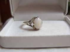 Opal & Sterling Ring Artisan Altered Authentic by ExquisiteStudios, $149.00