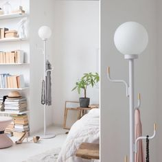 Meet our Big Darling lamp in black, a hanger and lamp in one. A colorful character in metal with brass details and timeless opal globe lamp. With its slim design it fits every space. Made to order.