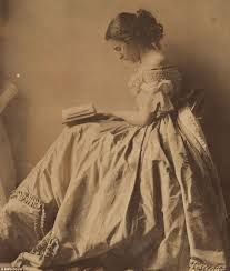 Image result for vintage photo victorian cat lady reading