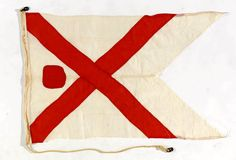 House flag, British India Steam Navigation Company Ltd (Commodore's broad pennant) - National Maritime Museum