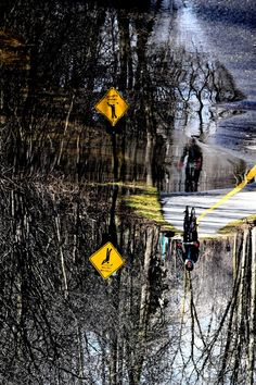 Cycle reflection by Claude Charbonneau on Bicycles, Reflection, Bike, Bicycle, Biking