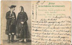 Bilder aus dem Volksleben des Schwarzwaldes, Germany - Antique 1904 Used Postcard