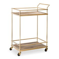 Threshold™ Bar Cart - Gold - I want to make this into a plant cart.