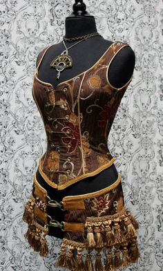 BROWN STEAMPUNK outfit ~ awesome!
