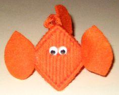 Goldfish Plastic Canvas Kissing Ornament