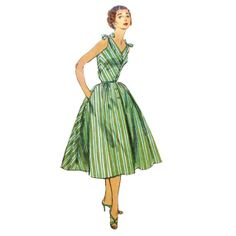 Simplicity 1164 Misses 1950s Sun Dress by VtgSewingPatterns, $18,00
