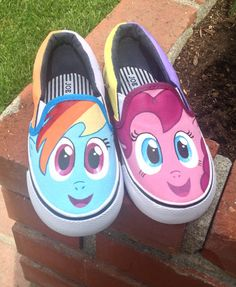 Girl's My Little Pony Shoes by KatieLadyCrafts on Etsy, $55.00