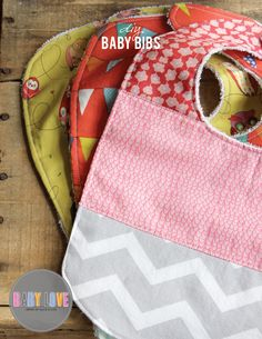 We are continuing our Baby Love series with this fabulous DIY for Baby bibs. Terry cloth on the back for comfort and stylish cotton print of the front makes the perfect baby gift.