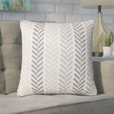 Chevron 100 Cotton Throw Pillow by Mercury Row Chevron Throw Pillows, Throw Pillow Sets, Outdoor Throw Pillows, Accent Pillows, Decorative Throw Pillows, Lumbar Pillow, Pillow Room, Decorative Accents, Blue Pillows