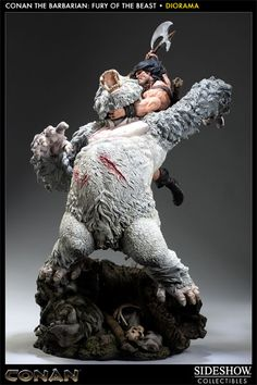 Sideshow Collectibles - Conan the Barbarian: Fury of the Beast Polystone Diorama
