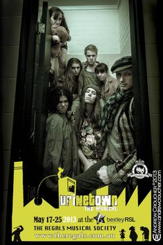 The promo poster for Urinetown by The Regal's Musical Society.