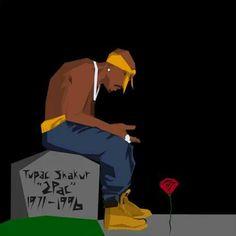 Xavier Payne Rose that grew from the concrete Arte Do Hip Hop, Hip Hop Art, African American Art, African Art, Tupac Wallpaper, Gorilla Wallpaper, Tupac Art, Rapper Art, Black Art Pictures