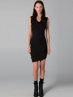 Sheath / Column V-neck  Sleeveless Short / Mini  Chiffon Black Little Black Dresses