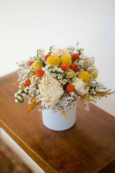 Billy Balls and Peonies fall arrangement by TheBlaithinBlairShop