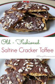 Old-Fashioned Saltine Cracker Toffee