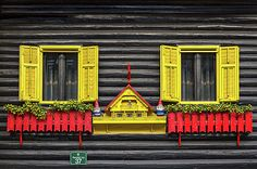 Photograph by Stuart Litoff.   #Whimsical #windows in #SkofjaLoka, #Slovenia