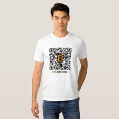 I Love Bitcoin - Make your own Bitcoin T-Shirt  I Love Bitcoin is for every bitcoin and cryptocurrency enthusiasts to express their love of #bitcoin also to share bitcoin address. You can customise this T-Shirt with your bitcoin address qr code. By clicking customise and uploading qr code.