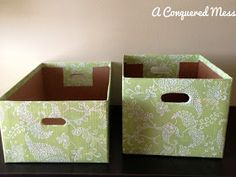Easy Storage Bins Out Of Cardboard Boxes #Organizing #DIY #Cardboard #Upcycle