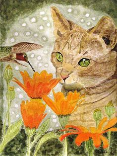 going for a similar theme for one panal.  I found this long after I decided on a cat a bee and a flower