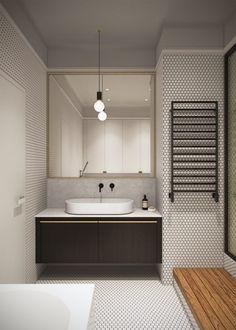 Honey White – Lumière et sophistication moderne dans un appartement de deux chambres