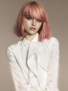 24 of the Best Blorange Hair Color Ideas to Wow this Winter Pretty Hairstyles, Bob Hairstyles, Latest Hairstyles, Bob Haircuts, Medium Hairstyles, Wedding Hairstyles, Reverse Bob, Blorange Hair, Hair Bangs