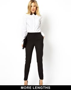 ASOS High Waist Trousers with Zips
