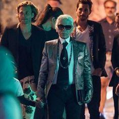 EXCLUSIVE - Karl Lagerfeld with Brad Kroenig in Saint Tropez (307291)