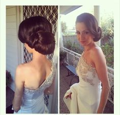 I wanna do 2 hair styles.... An updo like this for the ceremony (maybe) and Hollywood glam (hair down) for the reception.