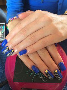 Nails art, acrylic nails, blue nails