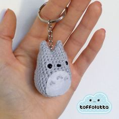 Mini Totoro Keychain - amigurumi crochet art