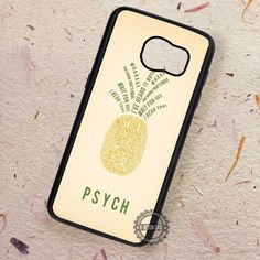 Pineapple Quote Psych - Samsung Galaxy S7 S6 S5 Note 7 Cases & Covers